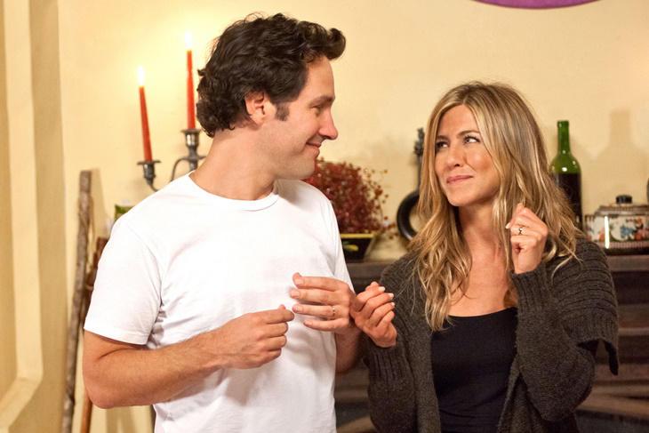 Las parejas de famosos con menos química del cine: Jennifer Aniston y Paul Rudd
