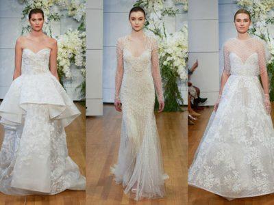 Vestidos de novia Monique Lhuillier 2018, colección chic