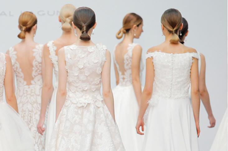 vestidos de novia hannibal laguna 2018, colección silkgarden [fotos