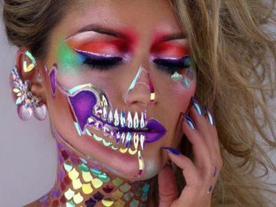Maquillaje de esqueleto para Halloween, ¡ideas alucinantes!