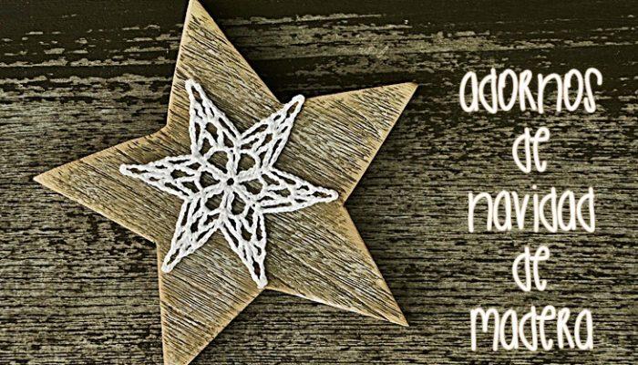 Adornos de Navidad de madera, pon el toque rústico chic