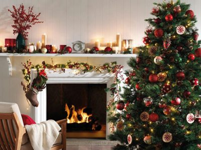 Decoración de chimeneas en Navidad, ilumina tu hogar