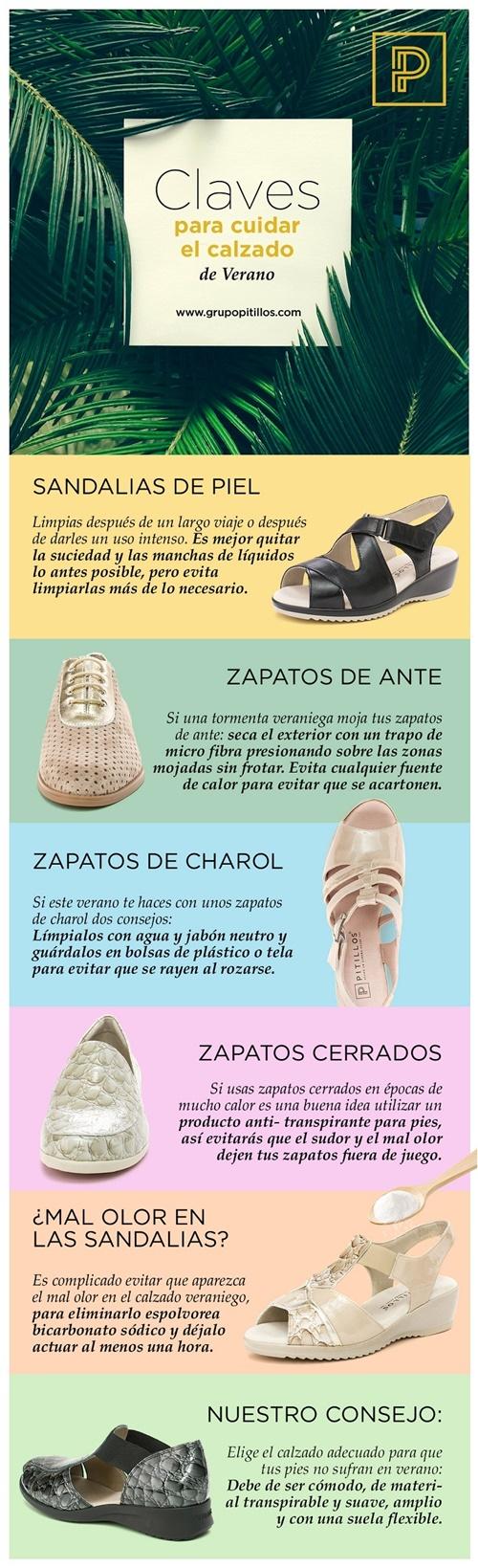 Infografía zapatos Pitillos