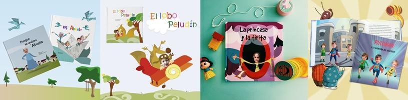 Varios cuentos personalizados Lola Pirindola