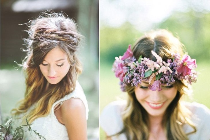 Peinados romanticos de novia