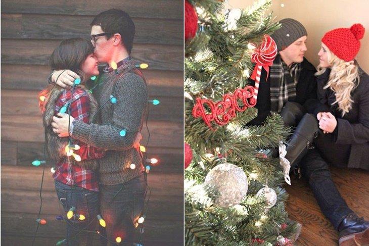 Fotos originales y románticas para hacerte en Navidad con tu pareja