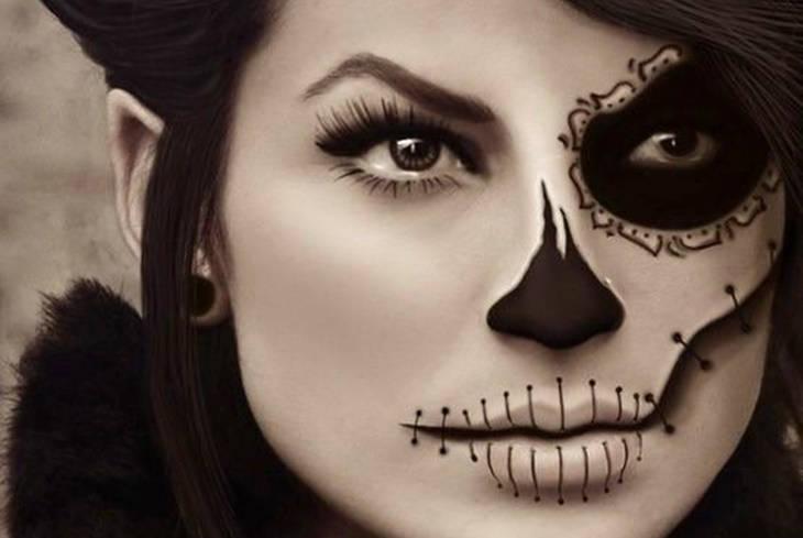 maquillaje halloween mujer portada - Maquillaje Halloween